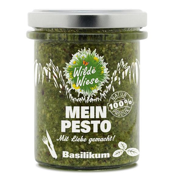 Wilde Wiese - Basilikum Pesto - geröstete Haselnüsse - Vegan