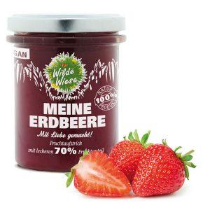 meine wilde wiese_Erdbeer Fruchtaufstrich_made in germany_vegan