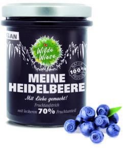 Wilde Wiese - Meine Heidelbeere Fruchtaufstrich 70% Fruchtaufstrich - Vegan