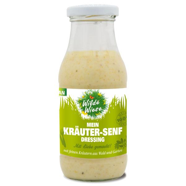 Wilde Wiese Kräuter Senf Dressing - mit Kräutern aus Wald und Garten -Vegan