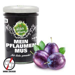Wilde Wiese - Mein Pflaumenmus 100% Fruchtaufstrich - Zuckerfrei - Vegan