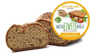 Wilde Wiese Eiweißbrot - Sesam Geschmack - Keto / Low Carb / Diabetiker Brot / Zuckerfrei / Vegan