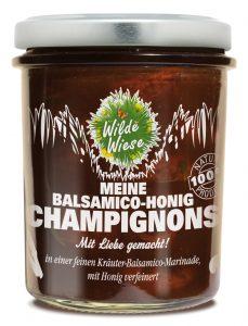 Champignons in Balsamico-Honig und feinen Kräutern