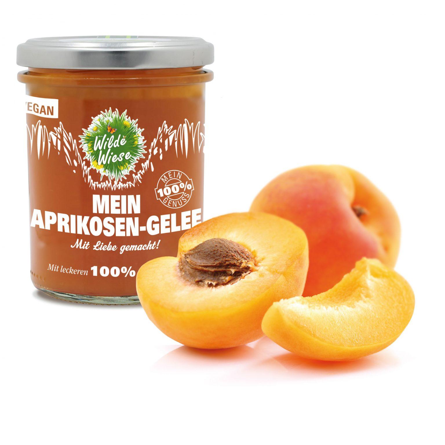 Wilde Wiese Mein Aprikosen Gelee - 100% Aprikosensaft - Vegan