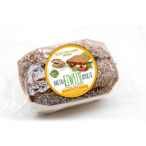 Wilde Wiese Eiweißbrot - Sesam Geschmack - Keto / Low Carb / Diabetiker Brot / Zuckerfrei / Glutenfrei / Vegan